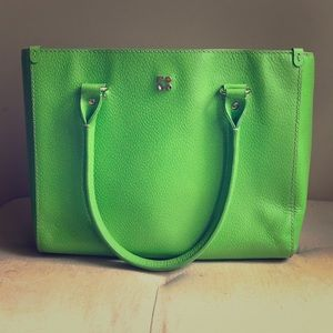 Kate Spade lime green handbag.
